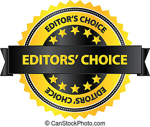 Editors Choice Quality Product Badge Vector