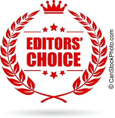 Editors choice vector icon - Editors choice vector laurel ...