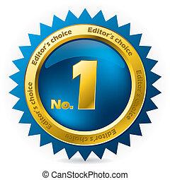 editor's, scelta, numero, premio, uno