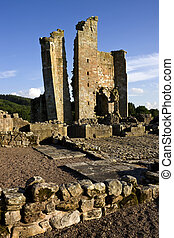 Edlingham Castle near Alnwick in Northumberland - England -...