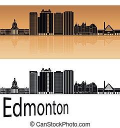 Edmonton V2 skyline in orange