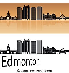 Edmonton V2 skyline in orange
