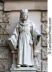 Edmund Hofmann von Aspernburg: Magister, on the facade of...