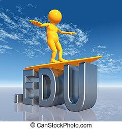 EDU Top Level Domain - Computer generated 3D illustration...