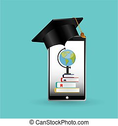 eduation online concept achiviement learning school background
