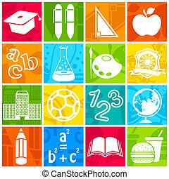 educação, ícone
