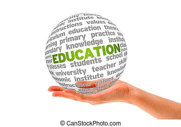 educação, 3d, esfera