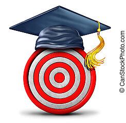 educação, alvo