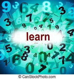 educação, aprender, meios, treinamento, educando, e, educado