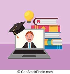 educação, aprendizagem, online