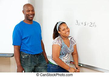 educação, -, caule, africano-americano