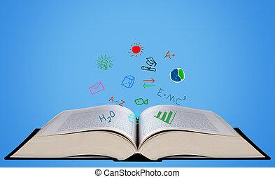 educação, conceito, fundo