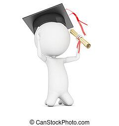 educação, -, escola, é, saída