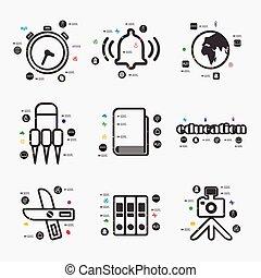 educação, infographic