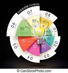 educação, infographic, modelo