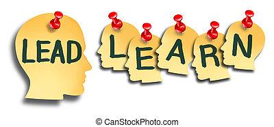 educação, liderar, aprender