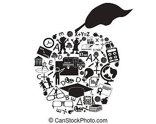 educação, maçã