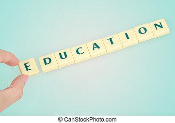 educação, palavra