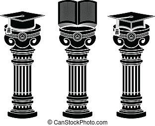 educação, pedestais