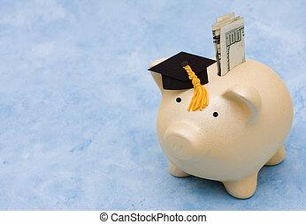 educação, poupança