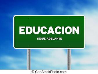educação, sinal estrada