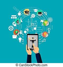 educación, aprendizaje, en línea
