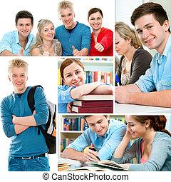 educación, collage