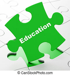 educación, concept:, educación, en, rompecabezas, plano de fondo