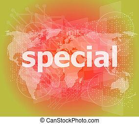 educación, concept:, especial, palabra, en, fondo digital