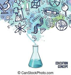 educación, concepto, bosquejo