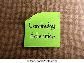 educación, continuar