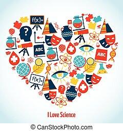 educación, corazón, concepto