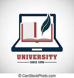 educación de la universidad, emblema, icono