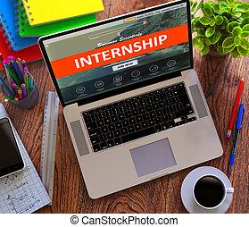 educación, desarrollo, concept., internship.