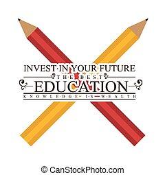educación, diseño, illustration.