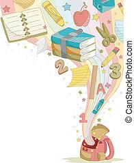 educación, elementos