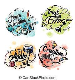 educación, elementos, diseño
