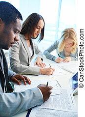 educación, empresa / negocio