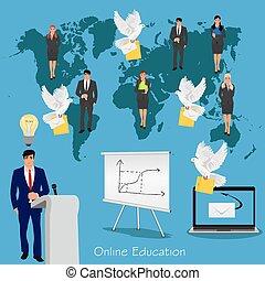 educación en línea, concepto, ciencia