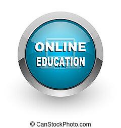 educación en línea, icono
