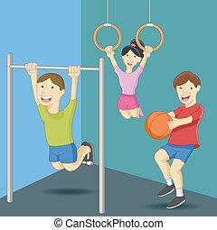 educación física, clase