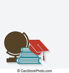 educación, graduación, plano de fondo