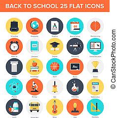 educación, iconos