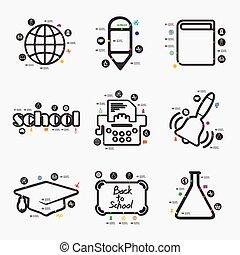 educación, infographic