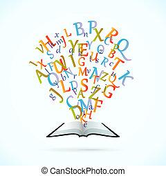 educación, libro