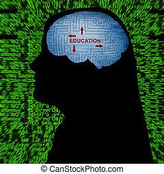 educación, mente