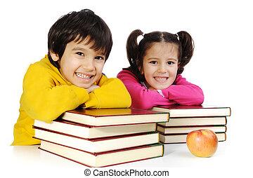 educación, niños, felicidad