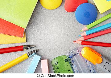 educación, objetos
