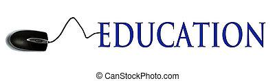 educación, palabra