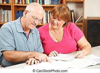 educación para adultos, pareja